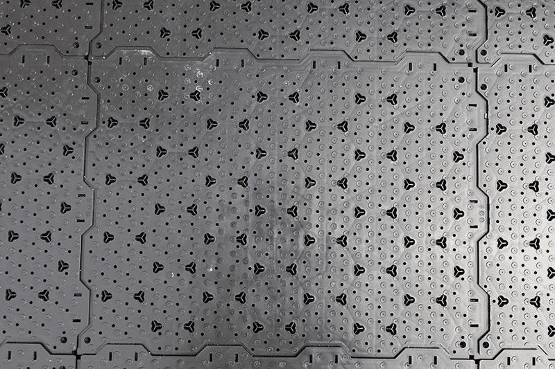 Drainage platen voor afwatering-onder-kunstgras